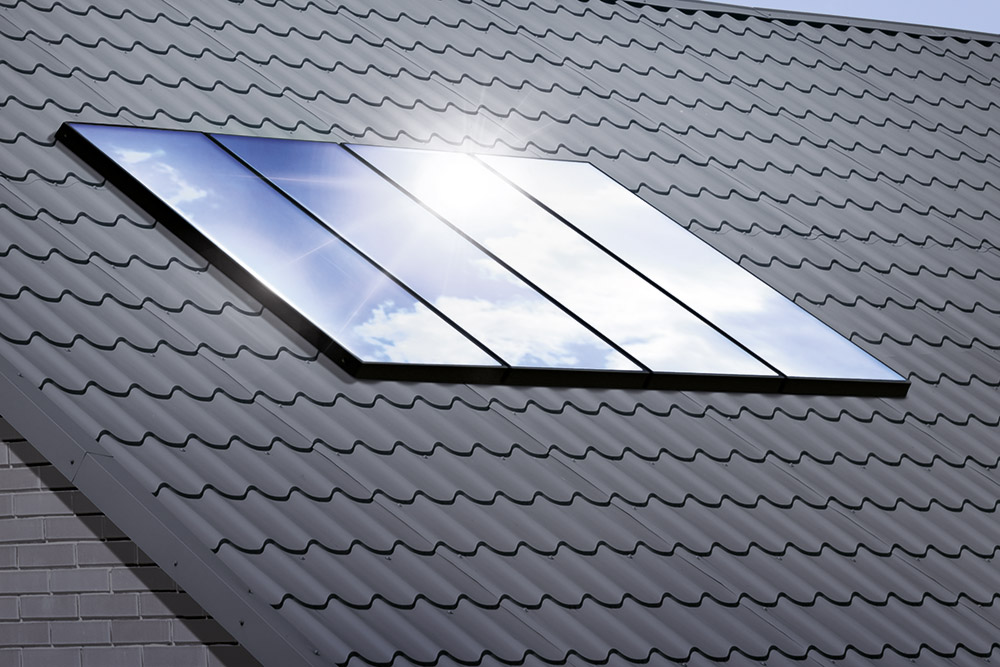 Solarthermie auf Hausdach