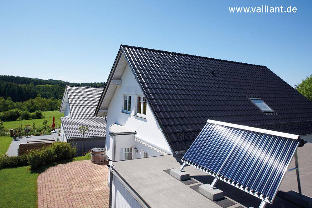 Solarthermie auf Garagendach